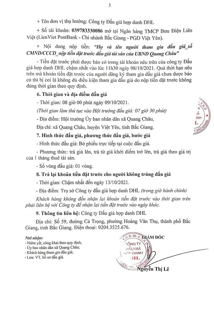 Ngày 9/10/2021, đấu giá quyền thuê mặt bằng hành lang vỉa hè tại ven đường gom Khu Công nghiệp tại huyện Việt Yên, tỉnh Bắc Giang ảnh 4