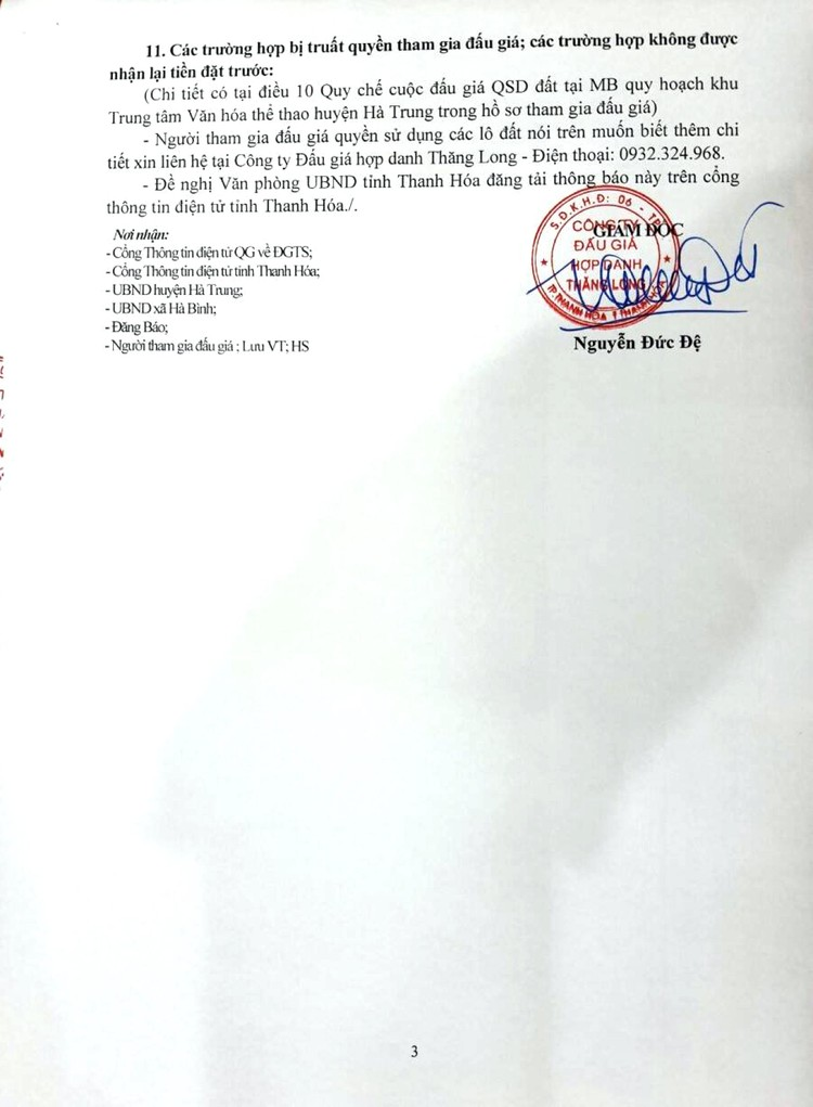 Ngày 10/10/2021, đấu giá quyền sử dụng 120 lô đất tại huyện Hà Trung, tỉnh Thanh Hóa ảnh 4