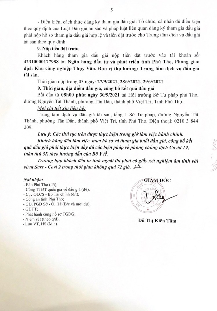 Ngày 30/9/2021, đấu giá 41.138 sản phẩm các loại tại tỉnh Phú Thọ ảnh 6