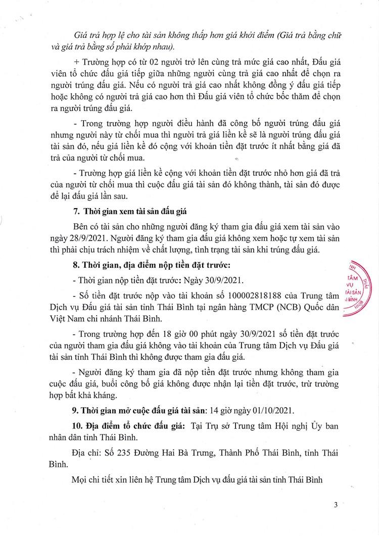 Ngày 1/10/2021, đấu giá xe ô tô tải Cửu Long tại tỉnh Thái Bình ảnh 4