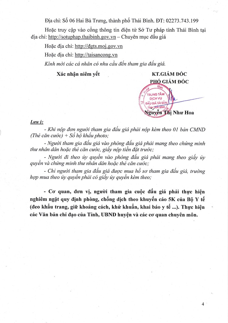 Ngày 1/10/2021, đấu giá xe ô tô tải Cửu Long tại tỉnh Thái Bình ảnh 5