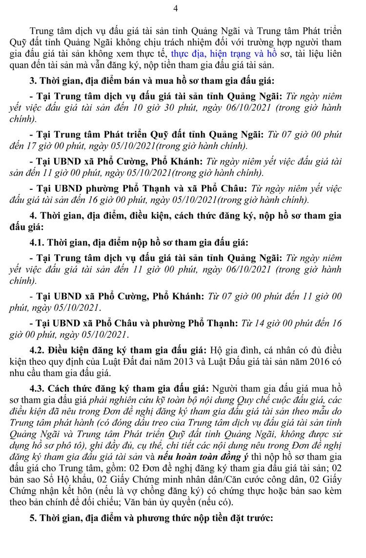 Ngày 9/10/2021, đấu giá quyền sử dụng 59 lô đất tại thị xã Đức Phổ, tỉnh Quảng Ngãi ảnh 5