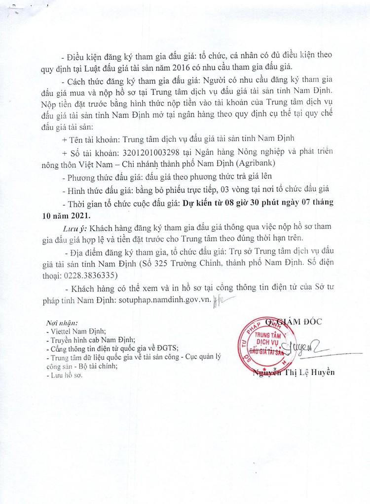 Ngày 7/10/2021, đấu giá vật tư thiết bị mạng lưới tại tỉnh Nam Định ảnh 3