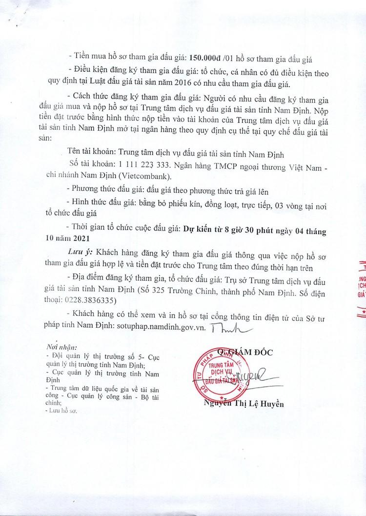 Ngày 4/10/2021, đấu giá tang vật vi phạm hành chính tại tỉnh Nam Định ảnh 3