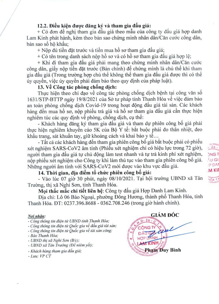 Ngày 8/10/2021, đấu giá quyền sử dụng 40 lô đất tại thị xã Nghi Sơn, tỉnh Thanh Hóa ảnh 5