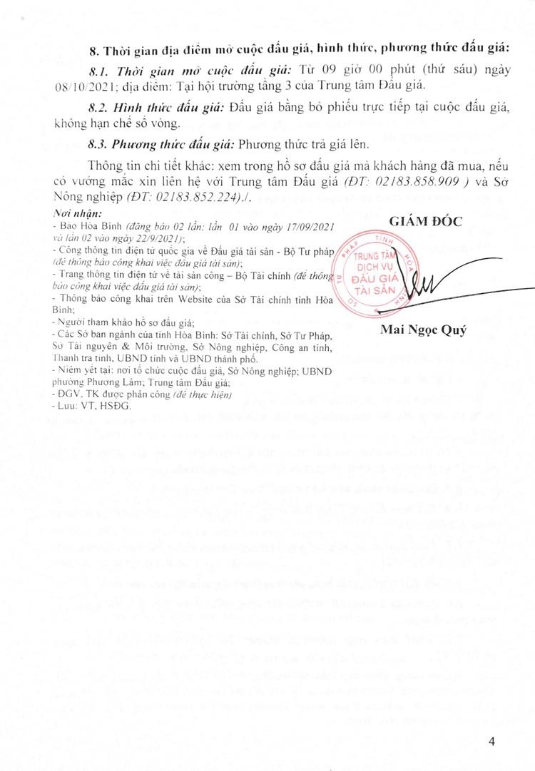 Ngày 8/10/2021, đấu giá quyền sử dụng đất tại thành phố Hòa Bình, tỉnh Hòa Bình ảnh 5