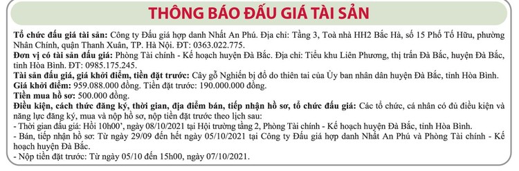 Ngày 7/10/2021, đấu giá cây gỗ nghiến bị đổ tại huyện Đà Bắc, tỉnh Hòa Bình ảnh 1