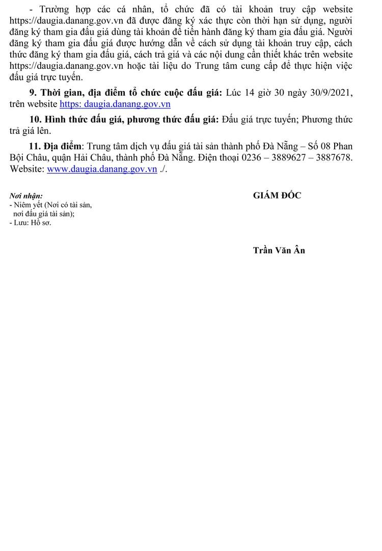Ngày 30/9/2021, đấu giá lô nước giặt quần áo, máy xay thực phẩm tại thành phố Đà Nẵng ảnh 3
