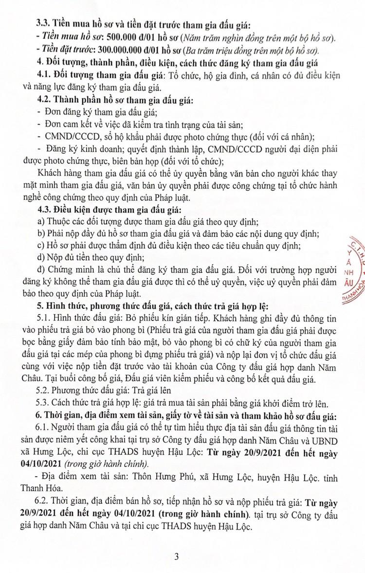 Ngày 7/10/2021, đấu giá quyền sử dụng 2 thửa đất tại huyện Hậu Lộc, tỉnh Thanh Hóa ảnh 5
