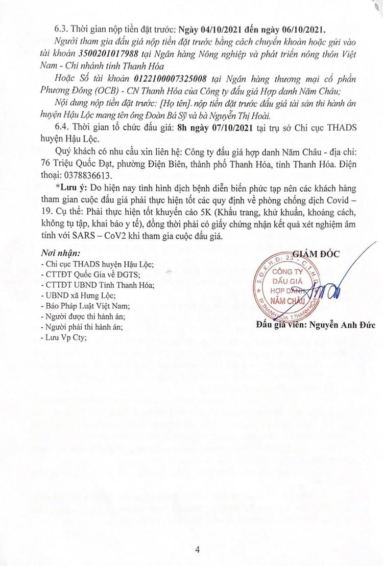 Ngày 7/10/2021, đấu giá quyền sử dụng 2 thửa đất tại huyện Hậu Lộc, tỉnh Thanh Hóa ảnh 6