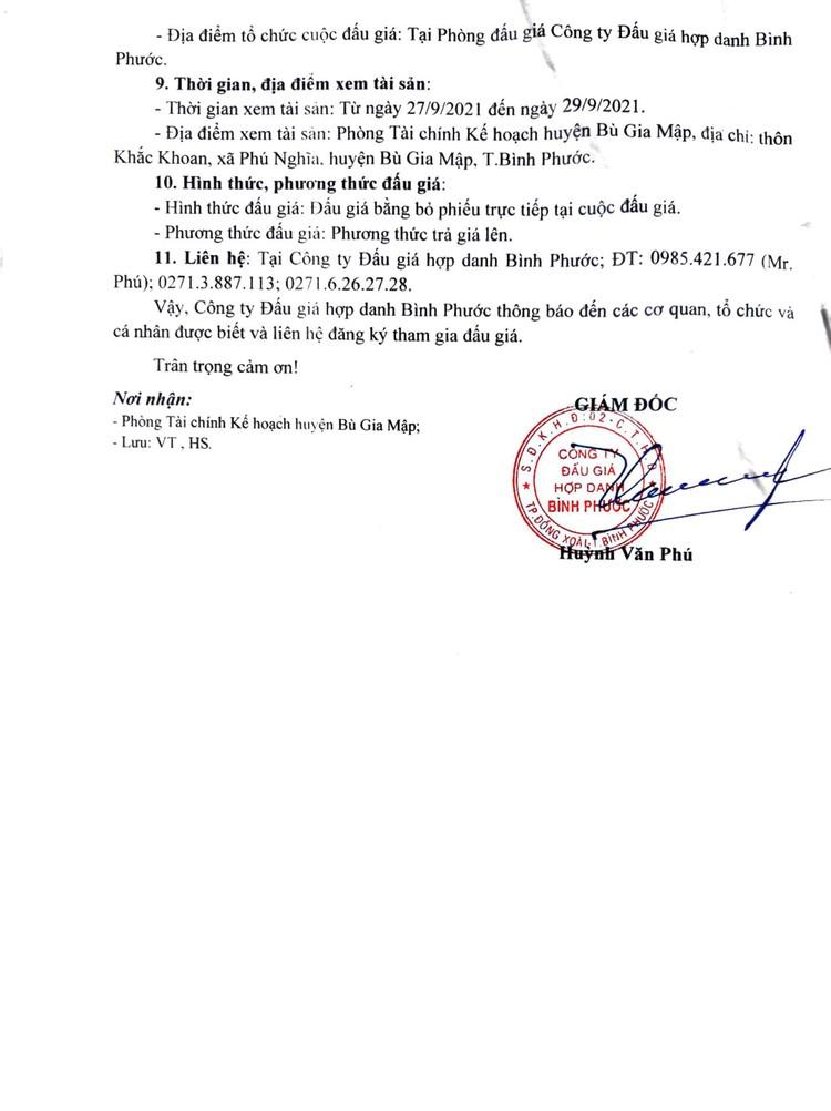Ngày 7/10/2021, đấu giá xe ô tô Nissan Bluebird tại tỉnh Bình Phước ảnh 3