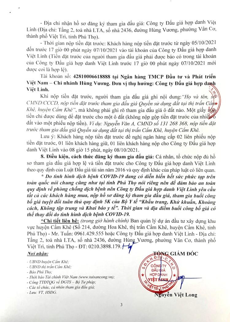 Ngày 8/10/2021, đấu giá quyền sử dụng 41 ô đất tại huyện Cẩm Khê, tỉnh Phú Thọ ảnh 4