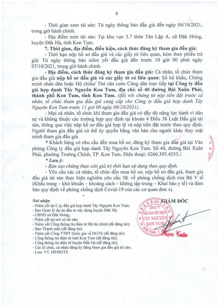 Ngày 12/10/2021, đấu giá quyền sử dụng 71 thửa đất tại huyện Đăk Hà, tỉnh Kon Tum ảnh 8