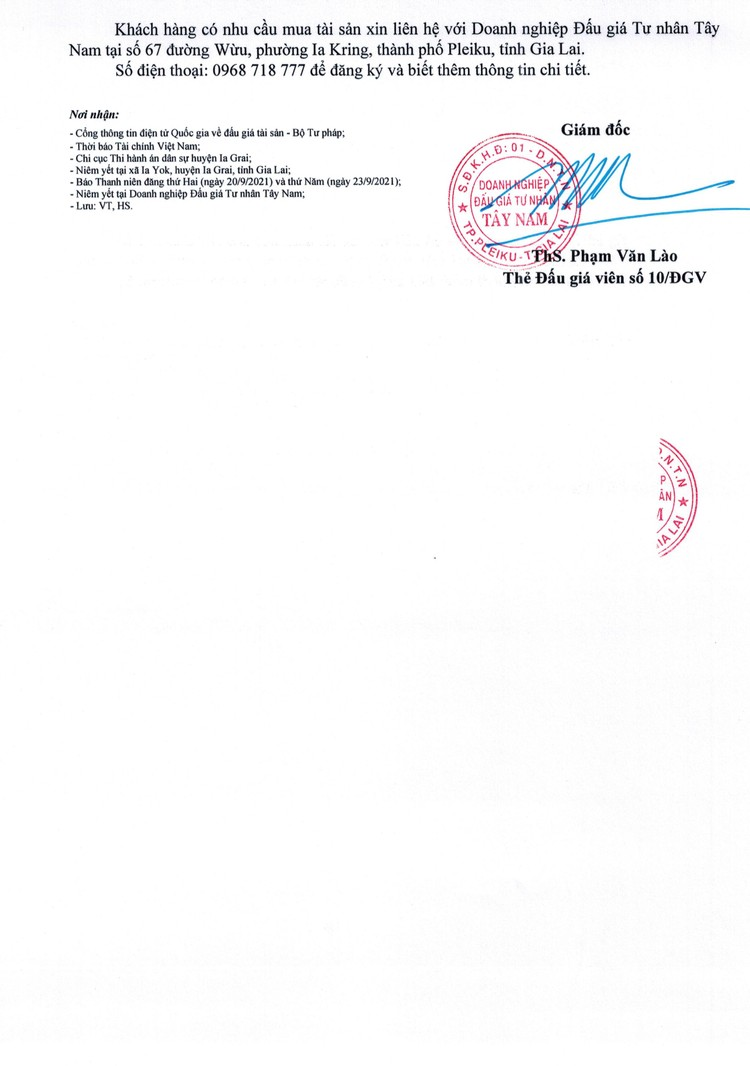Ngày 15/10/2021, đấu giá quyền sử dụng đất tại huyện Ia Grai, tỉnh Gia Lai ảnh 3