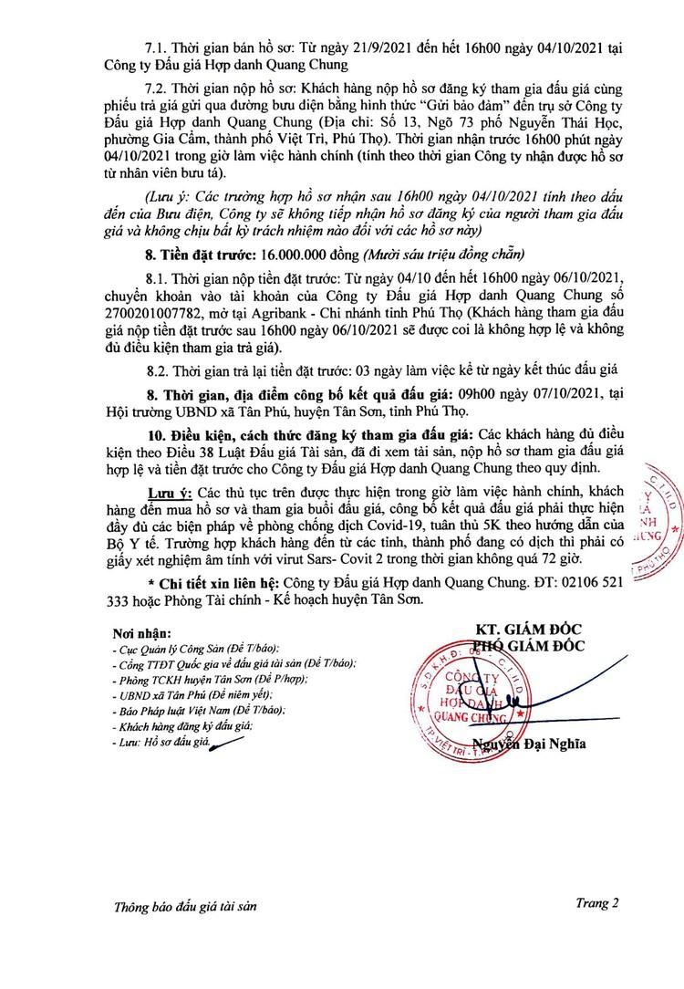 Ngày 7/10/2021, đấu giá xe ô tô ISUZU tại tỉnh Phú Thọ ảnh 3