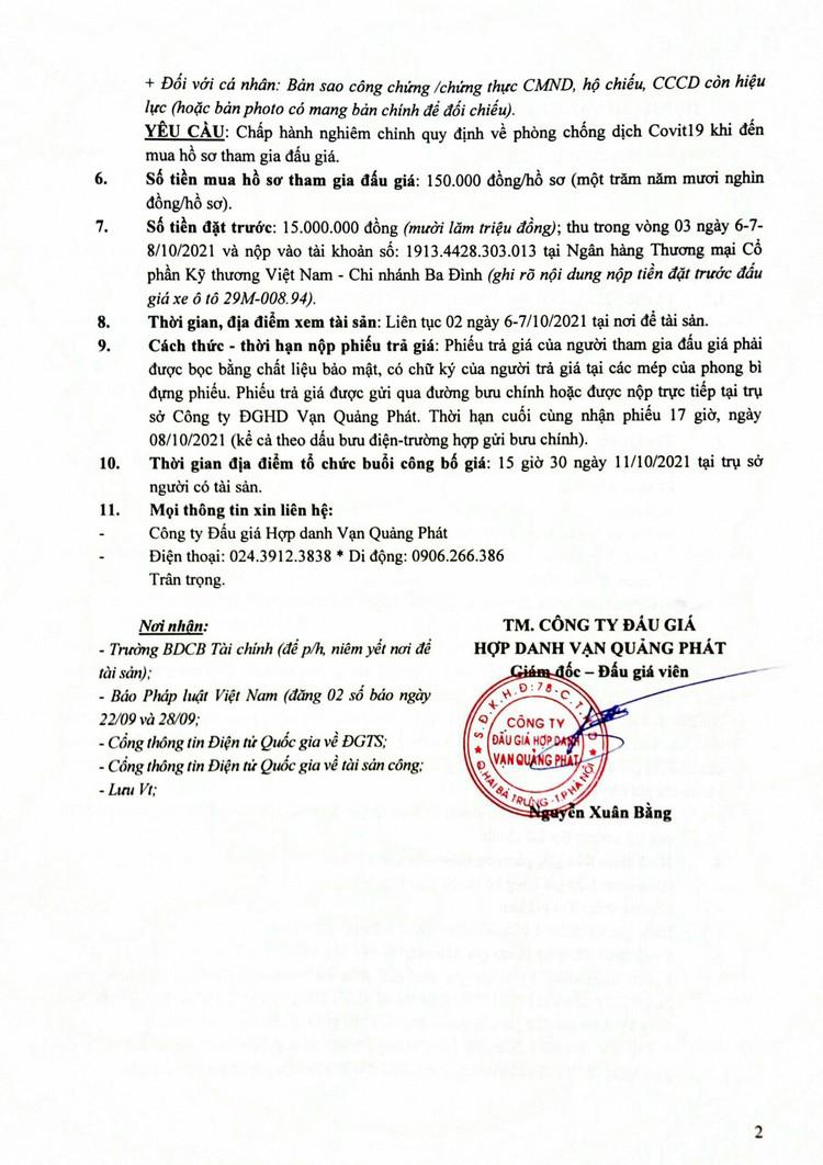 Ngày 11/10/2021, đấu giá xe ô tô Toyota Corolla Altis tại Hà Nội ảnh 3