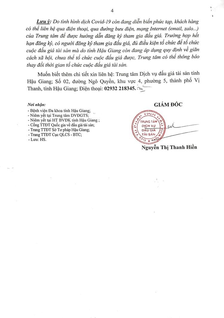Ngày 7/10/2021, đấu giá 2 ô tô thanh lý tại tỉnh Hậu Giang ảnh 5