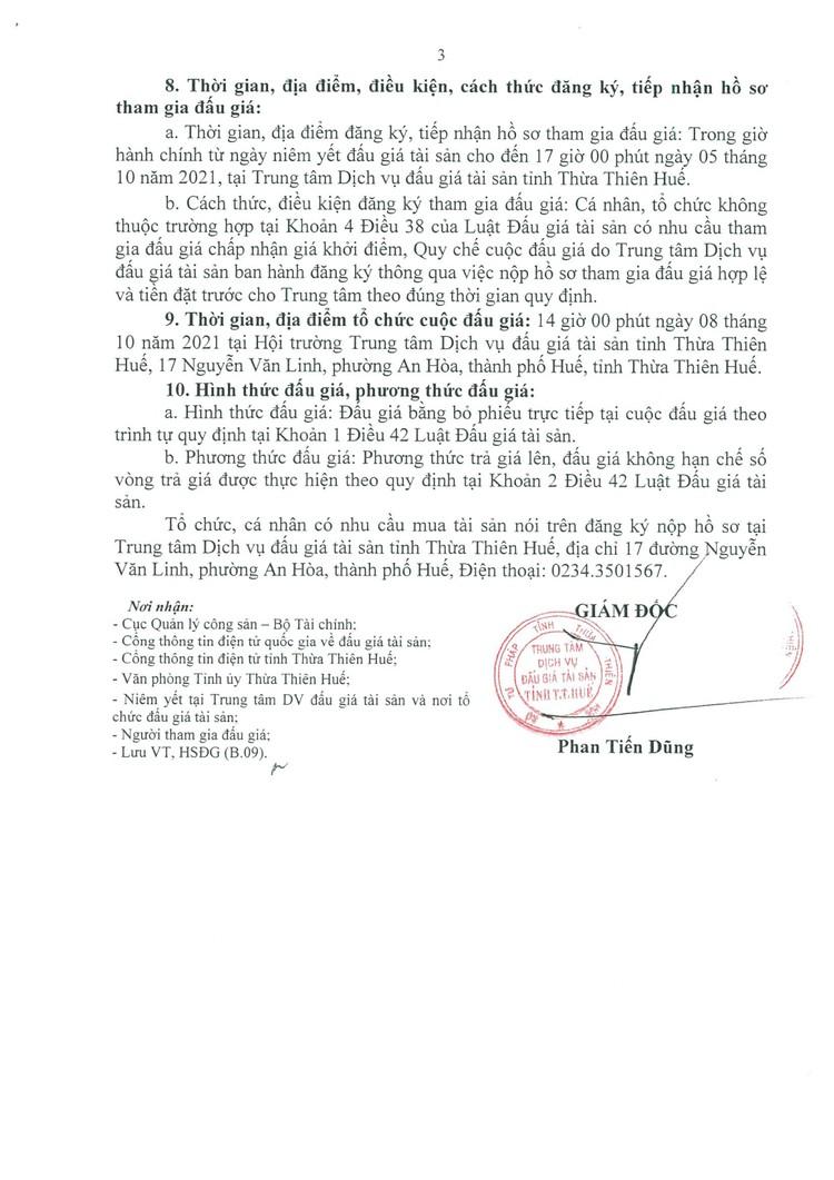 Ngày 8/10/2021, đấu giá 2 xe ô tô tại tỉnh Thừa Thiên Huế ảnh 4