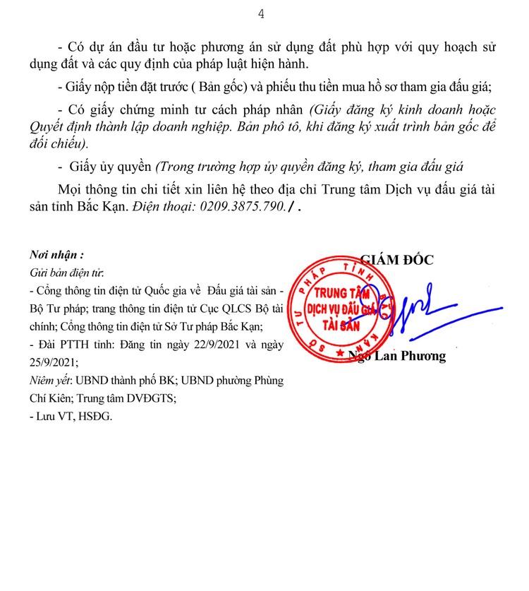 Ngày 22/10/2021, đấu giá quyền sử dụng 1.426,6 m2 đất tại thành phố Bắc Kạn, tỉnh Bắc Kạn ảnh 5