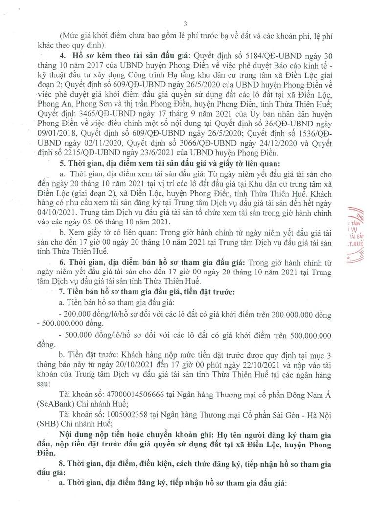 Ngày 23/10/2021, đấu giá quyền sử dụng 36 lô đất tại huyện Phong Điền, tỉnh Thừa Thiên Huế ảnh 4