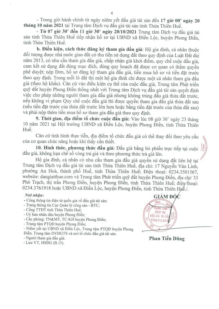 Ngày 23/10/2021, đấu giá quyền sử dụng 36 lô đất tại huyện Phong Điền, tỉnh Thừa Thiên Huế ảnh 5