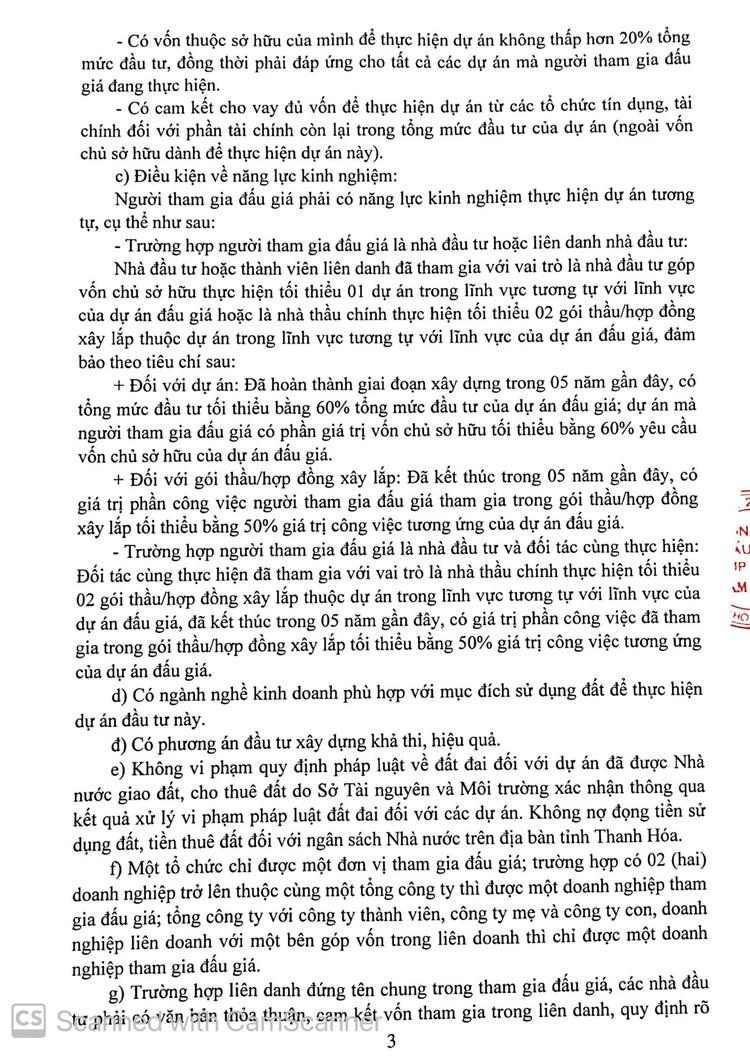 Ngày 10/10/2021, đấu giá quyền sử dụng 14.311,0 m2 đất tại thành phố Sầm Sơn, tỉnh Thanh Hóa ảnh 4