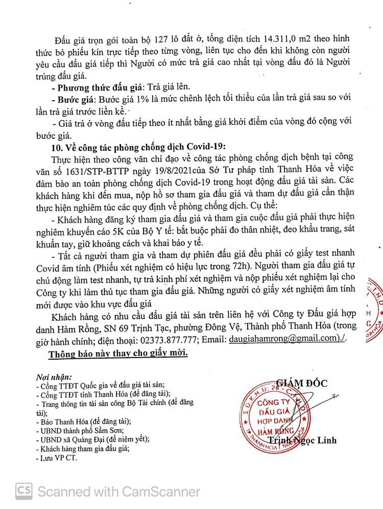 Ngày 10/10/2021, đấu giá quyền sử dụng 14.311,0 m2 đất tại thành phố Sầm Sơn, tỉnh Thanh Hóa ảnh 6