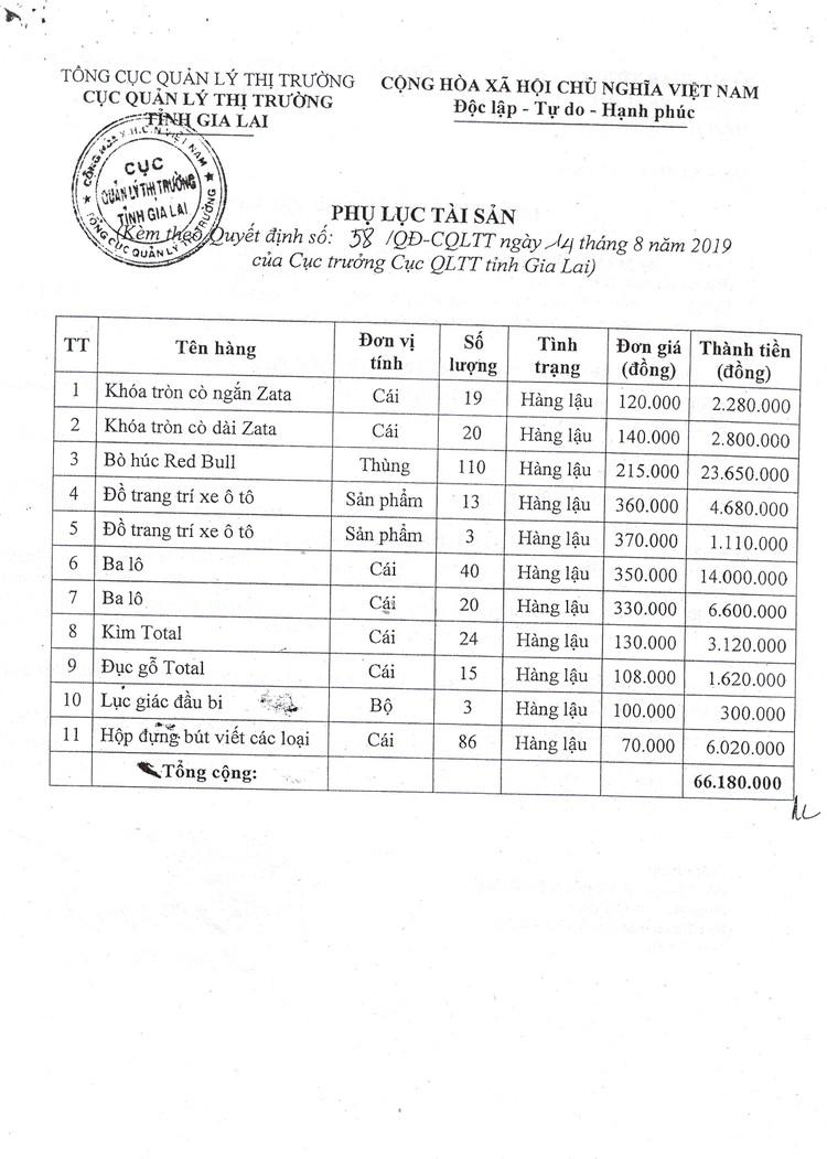 Ngày 11/10/2021, đấu giá tang vật vi phạm hành chính tại tỉnh Gia Lai ảnh 3