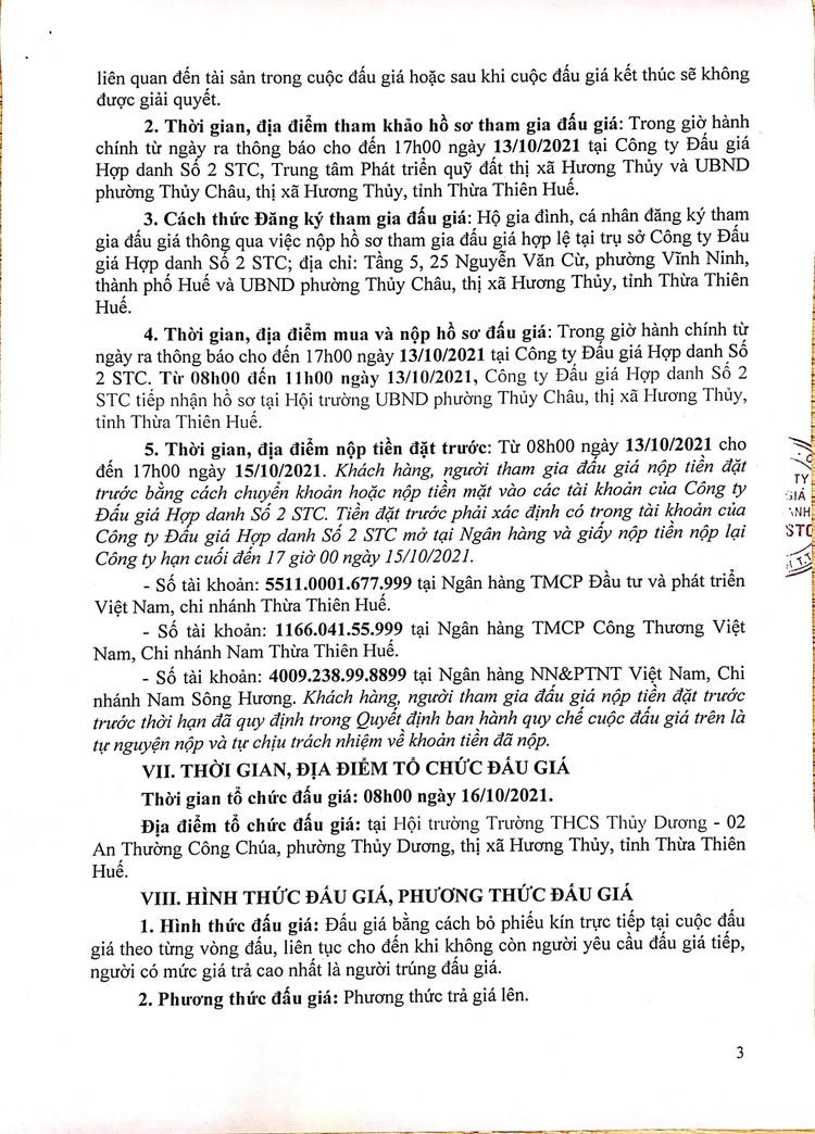 Ngày 16/10/2021, đấu giá quyền sử dụng 10 lô đất tại thị xã Hương Thủy, tỉnh Thừa Thiên Huế ảnh 4