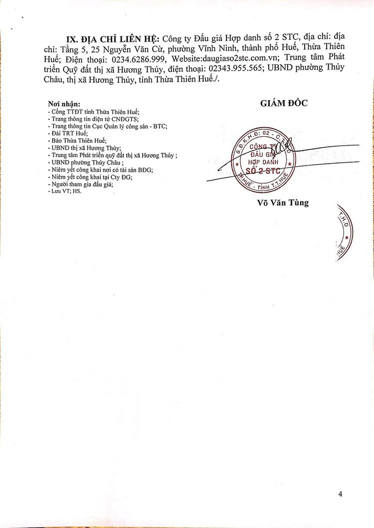 Ngày 16/10/2021, đấu giá quyền sử dụng 10 lô đất tại thị xã Hương Thủy, tỉnh Thừa Thiên Huế ảnh 5