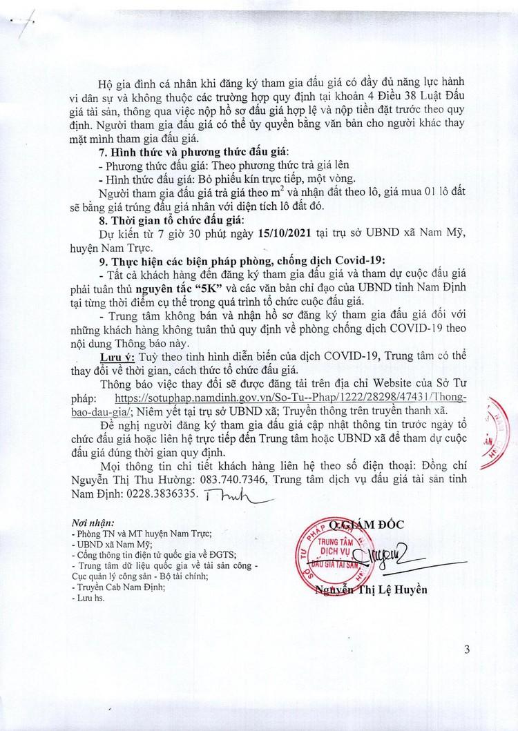 Ngày 15/10/2021, đấu giá quyền sử dụng đất tại huyện Nam Trực, tỉnh Nam Định ảnh 4