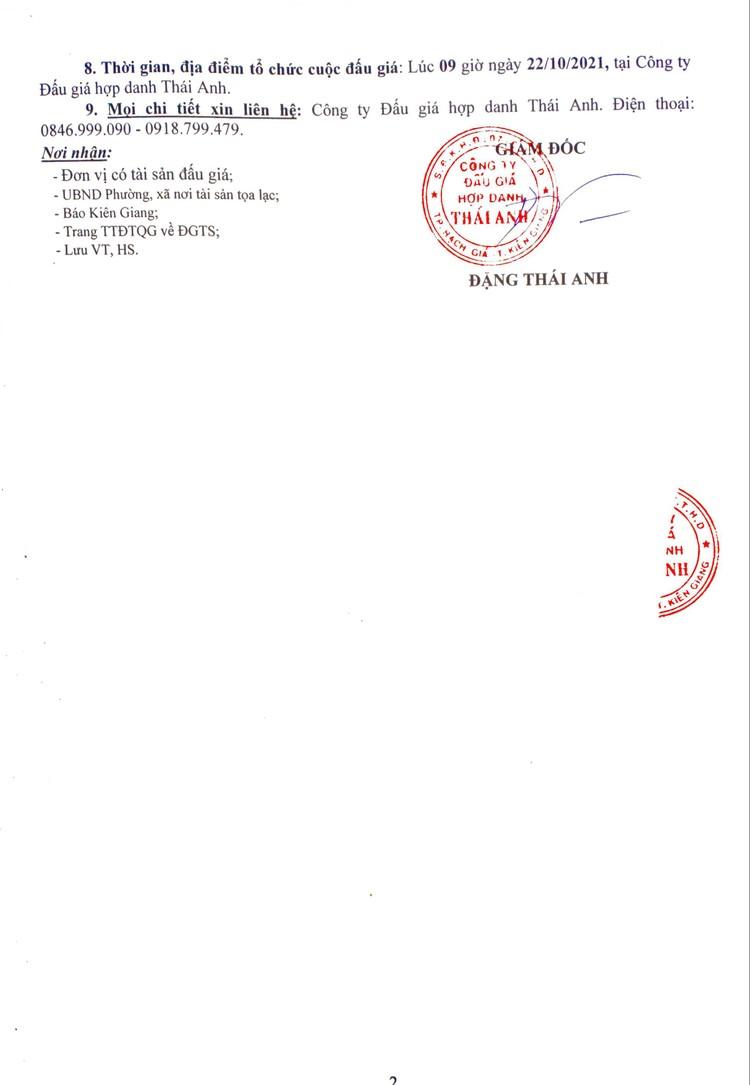 Ngày 22/10/2021, đấu giá quyền sử dụng đất tại thành phố Rạch Giá, tỉnh Kiên Giang ảnh 3