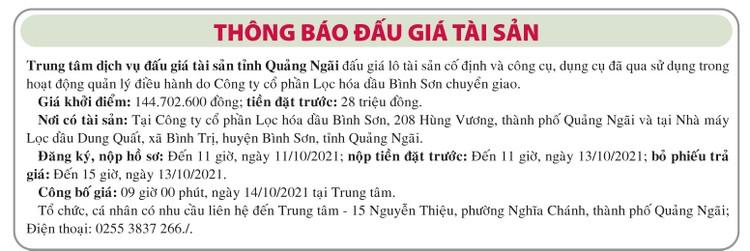 Ngày 14/10/2021, đấu giá công cụ, dụng cụ đã qua sử dụng tại tỉnh Quảng Ngãi ảnh 1
