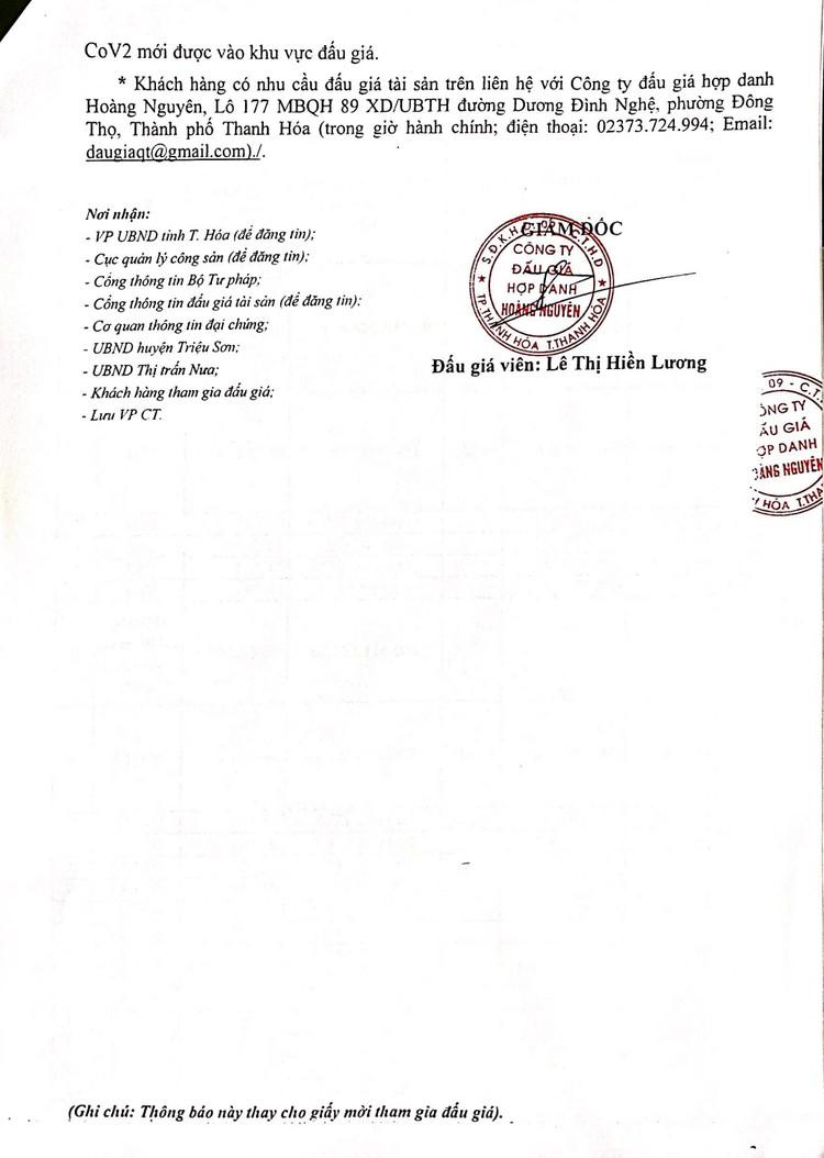 Ngày 16/10/2021, đấu giá quyền sử dụng 58 lô đất tại huyện Triệu Sơn, tỉnh Thanh Hóa ảnh 4