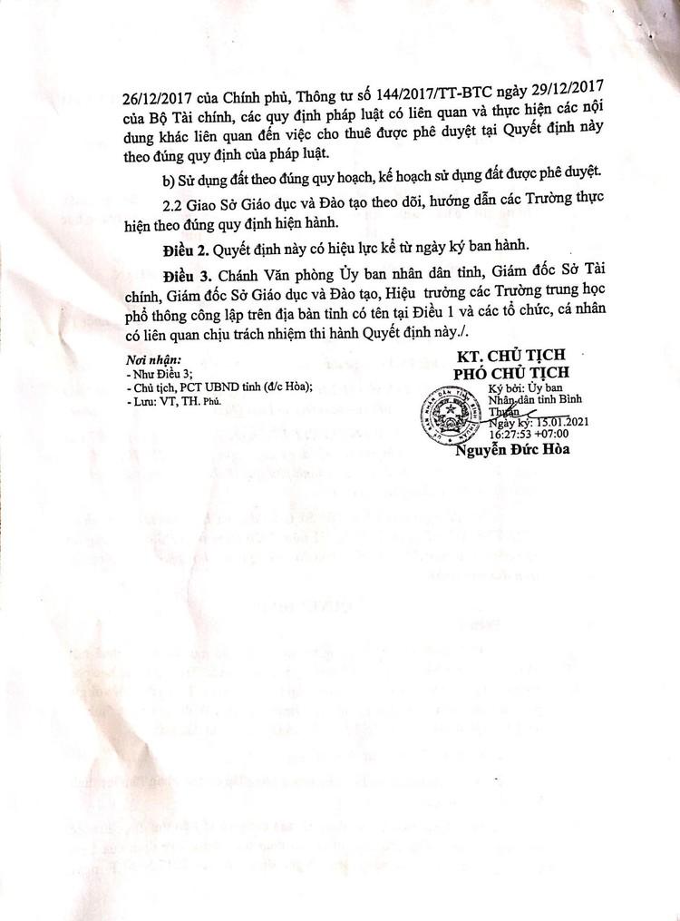 Ngày 14/10/2021, đấu giá mặt bằng căng tin, mặt bằng giữ xe và nhà ăn ký túc xá tại Trường THPT chuyên Trần Hưng Đạo, tỉnh Bình Thuận ảnh 6
