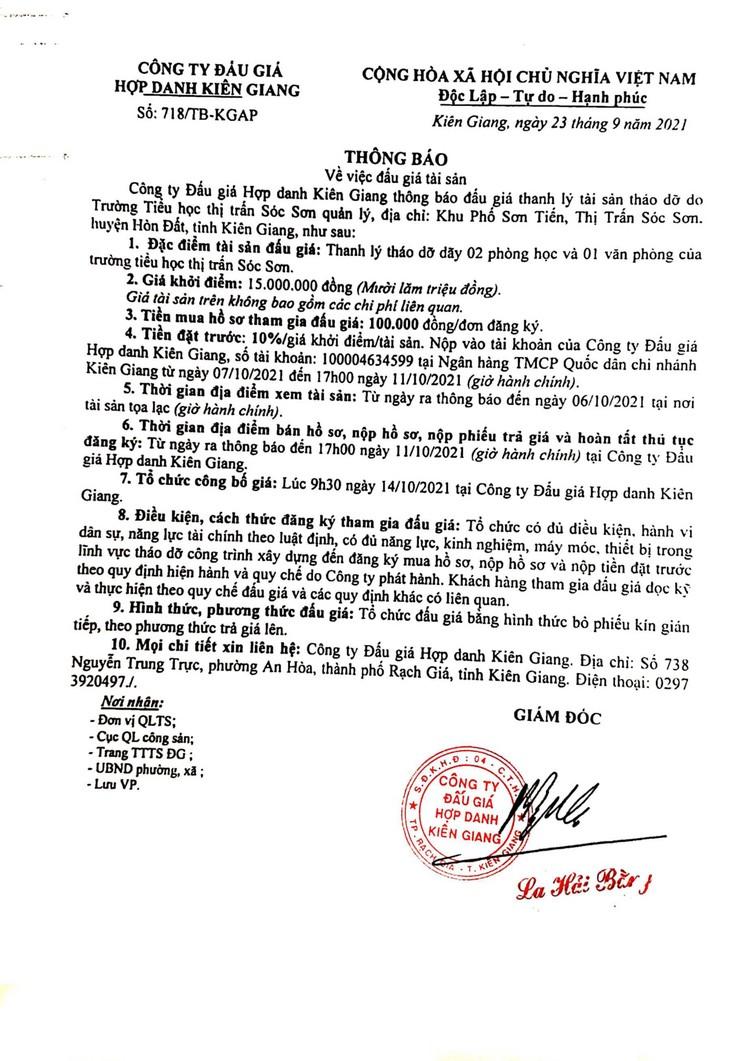 Ngày 14/10/2021, đấu giá tháo dỡ từ 2 phòng học và 1 văn phòng tại Hà Nội ảnh 2
