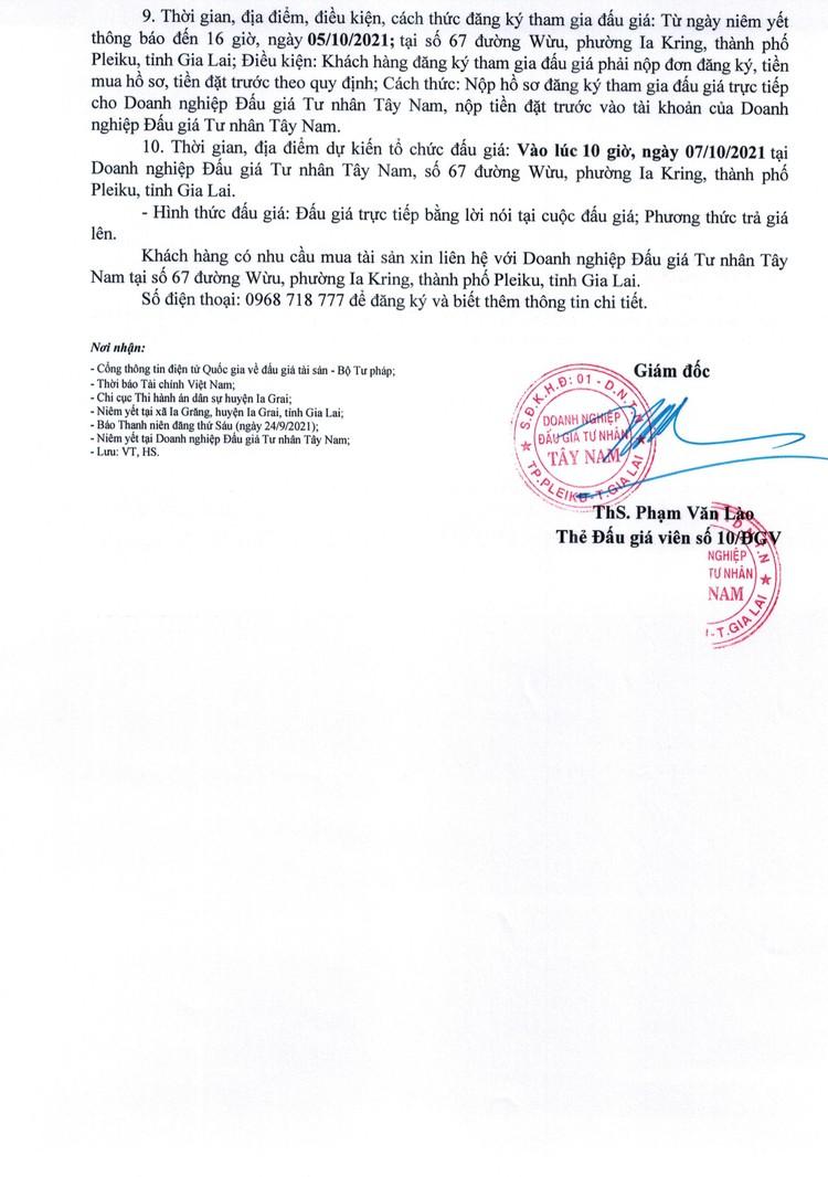 Ngày 7/10/2021, đấu giá quyền sử dụng 2 thửa đất tại huyện Ia Grai, tỉnh Gia Lai ảnh 3
