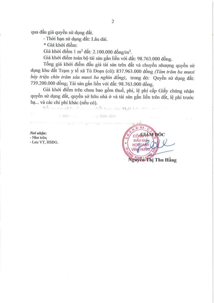 Ngày 21/10/2021, đấu giá quyền sử dụng đất tại huyện Lộc Bình, tỉnh Lạng Sơn ảnh 2