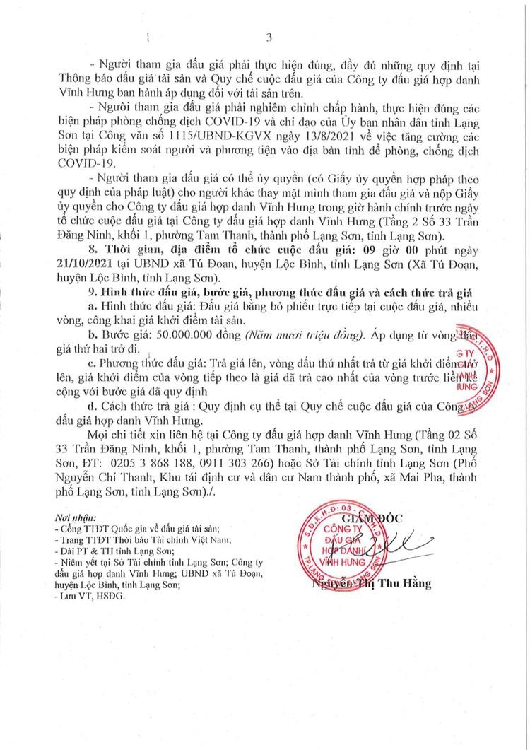 Ngày 21/10/2021, đấu giá quyền sử dụng đất tại huyện Lộc Bình, tỉnh Lạng Sơn ảnh 5