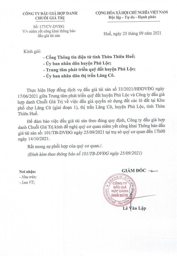 Ngày 15/10/2021, đấu giá quyền sử dụng đất tại huyện Phú Lộc, tỉnh Thừa Thiên Huế ảnh 2
