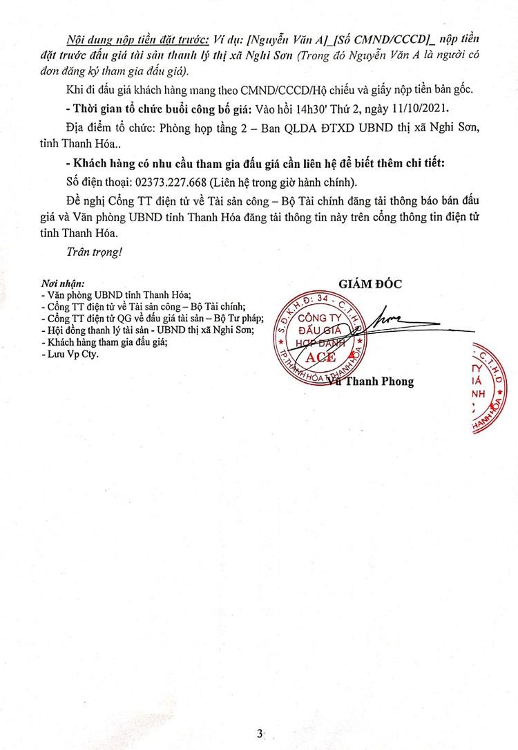 Ngày 11/10/2021, đấu giá vật tư, thiết bị thu hồi tại tỉnh Thanh Hóa ảnh 4