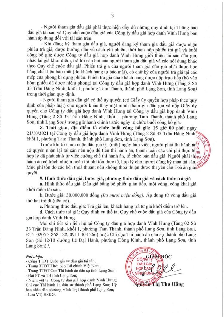 Ngày 21/10/2021, đấu giá 2 quyền sử dụng đất tại thành phố Lạng Sơn, tỉnh Lạng Sơn ảnh 6