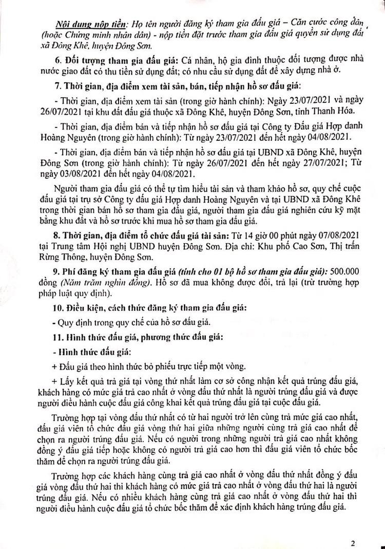 Ngày 18/10/2021, đấu giá quyền sử dụng 205 lô đất tại huyện Đông Sơn, tỉnh Thanh Hóa ảnh 6