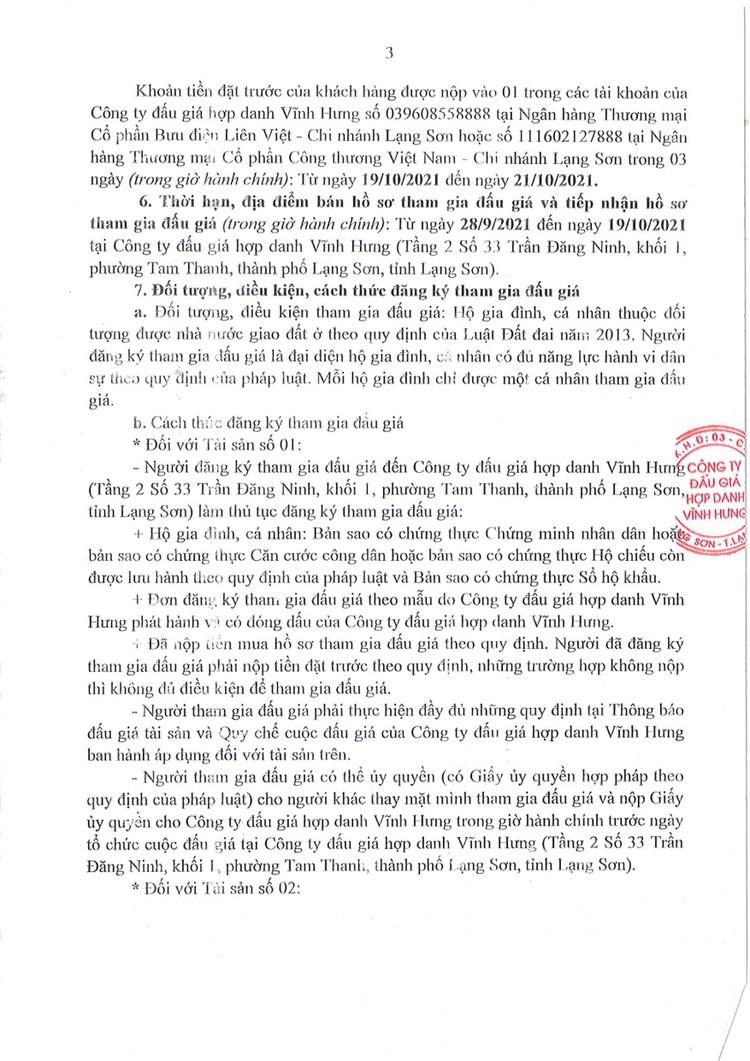 Ngày 22/10/2021, đấu giá 2 quyền sử dụng đất tại huyện Tràng Định, tỉnh Lạng Sơn ảnh 6