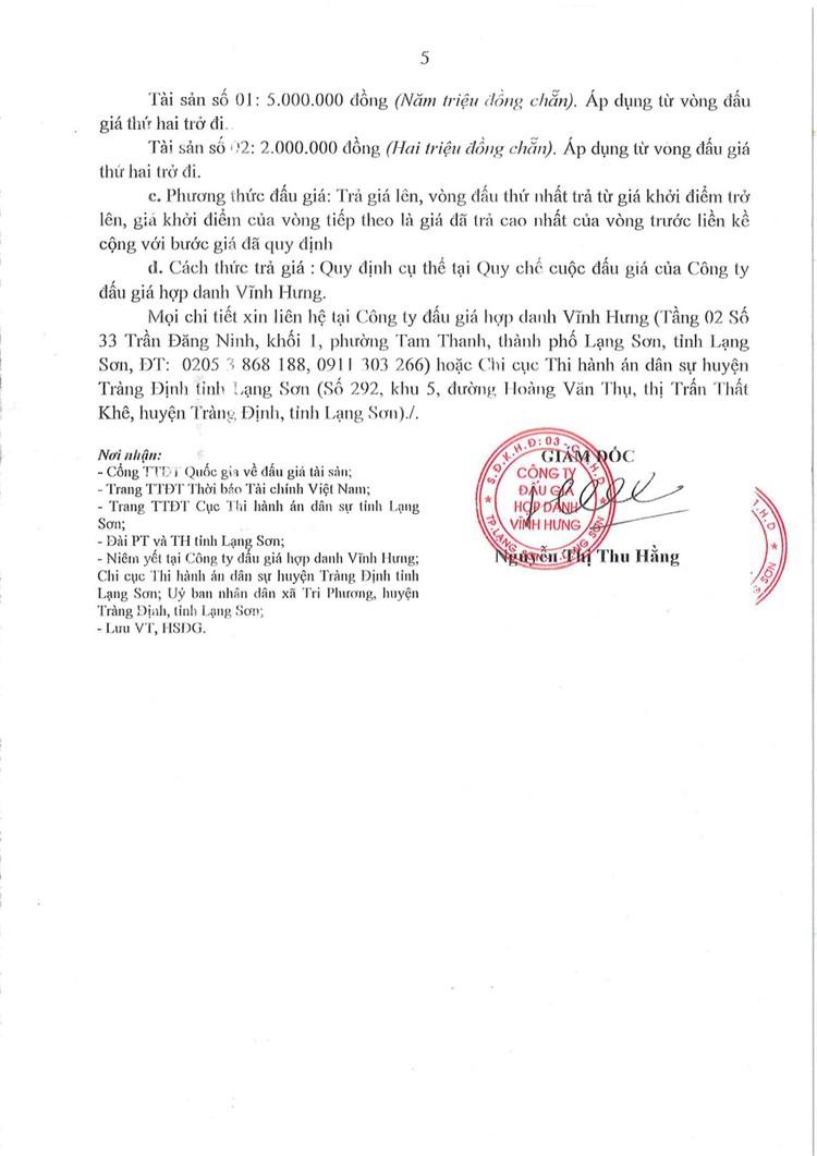 Ngày 22/10/2021, đấu giá 2 quyền sử dụng đất tại huyện Tràng Định, tỉnh Lạng Sơn ảnh 8