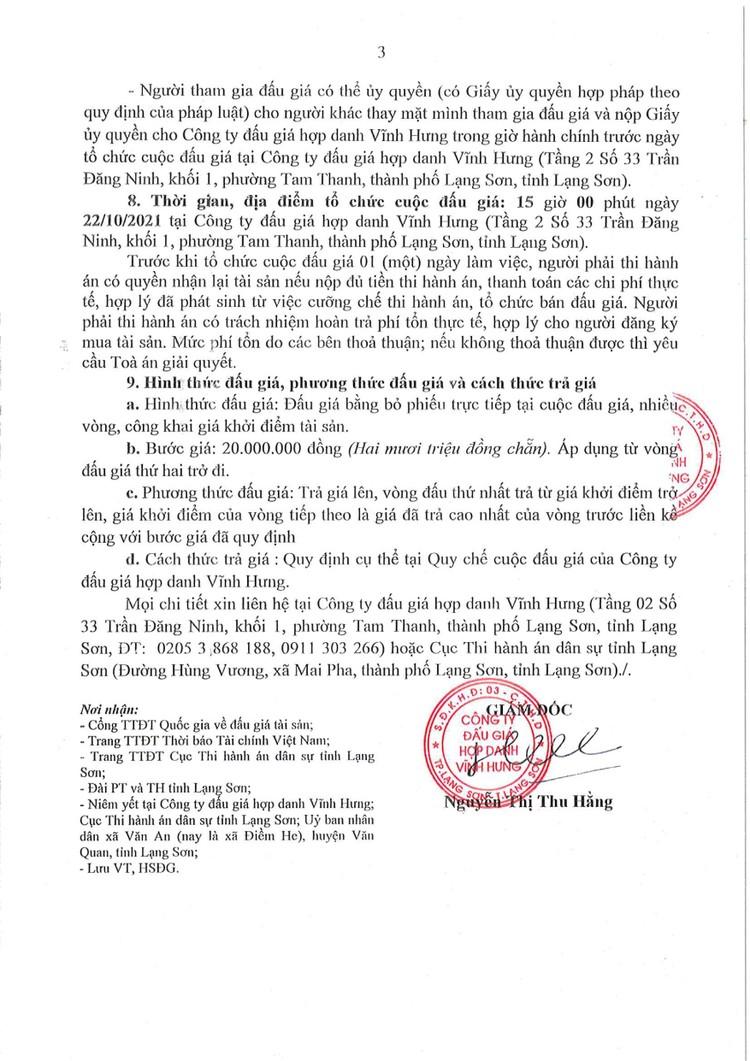 Ngày 22/10/2021, đấu giá quyền sử dụng đất tại huyện Văn Quan, tỉnh Lạng Sơn ảnh 6