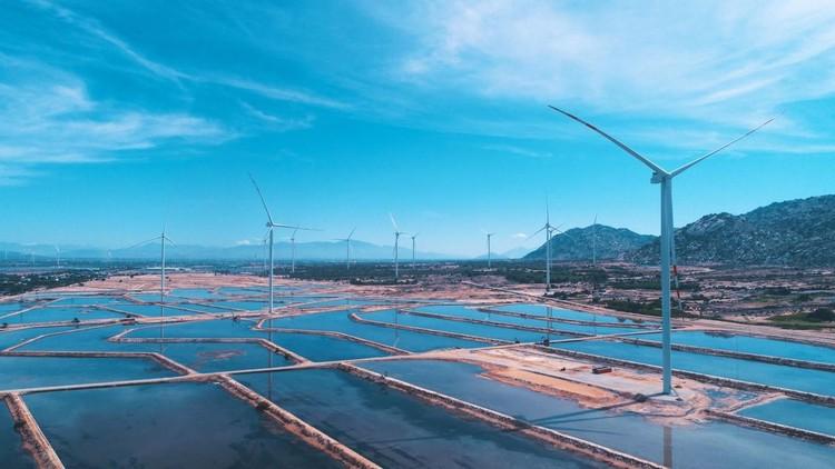 Báo quốc tế đưa tin về Tổ hợp kinh tế muối và năng lượng tái tạo lớn nhất Việt Nam ảnh 1