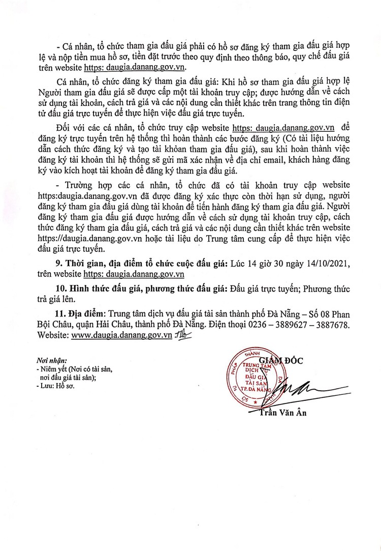 Ngày 14/10/2021, đấu giá xe ô tô đã qua sử dụng tại thành phố Đà Nẵng ảnh 3