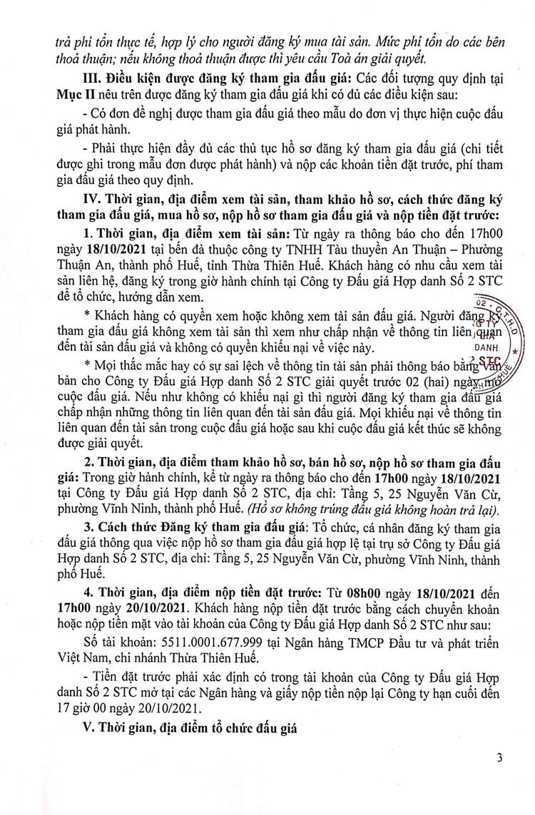 Ngày 21/10/2021, đấu giá tàu đánh cá vỏ gỗ tại tỉnh Thừa Thiên Huế ảnh 4