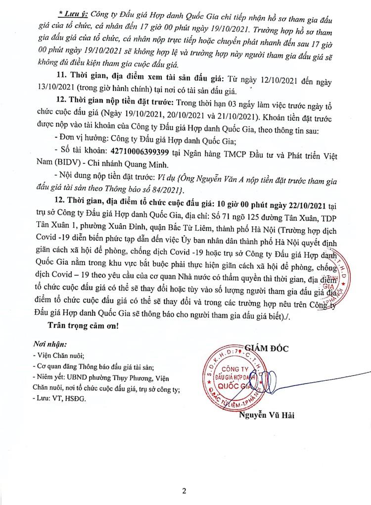 Ngày 22/10/2021, đấu giá Nhà kho, nhà để xe ô tô cho thuê tại Hà Nội ảnh 3